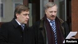 Амбасадар Літвы Эдмінас Багдонас і амбасадар Вугоршчыны Фэрэнц Контра