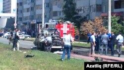 Татарстан мөфтие машинасы шартлаган урын, 19 июль 2012