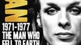 """Плакат документального фильма о Брайане Ино """"Человек, который упал на землю"""""""