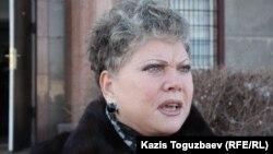 ҰҚК-нің бұрынғы қызметкері Талғат Жақаевтың адвокаты Татьяна Ковылкина. Алматы, 11 наурыз 2014 жыл.