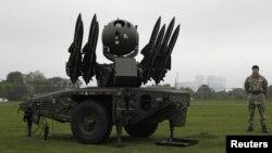 Батарея ПВО в Лондоне, 3 мая 2012