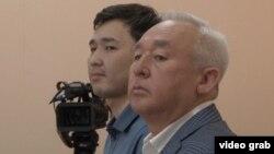 Сейітқазі Матаев пен оның ұлы Әсет Матаев.