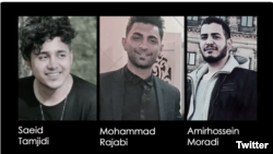 Amir-Hossein Moradi, Saeed Tamjidi and Mohammad Rajabi who were arrested during civil protests in Iran in November 2019 were all sentenced to death sentence by the Revolutionary Court.