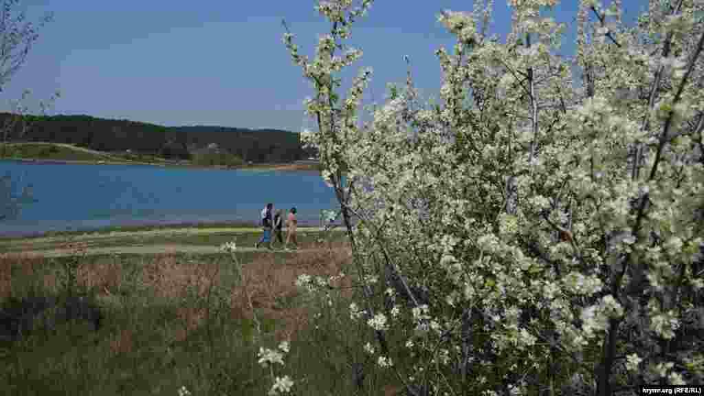 Симферопольское водохранилище – место, кудамассово отправляютсяна отдых горожане с приходом майских праздников