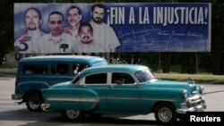 АҚШ түрмесінде отырған бес кубалықтың суреті. Олардың екеуін бұған дейін босатқан. Куба, 17 желтоқсан 2014 жыл.