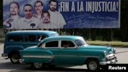 Гавана көшесіндегі көрініс. 17 желтоқсан, 2014 жыл.