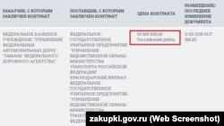 Вартість охорони Керченського мосту за півроку складе 53 мільйони рублів