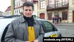 Гарадзенскі таксіст Сяргей Верамеенка, сябра партыі БХД