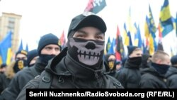 Марш «правых сил» в центре Киева, 22 февраля 2017 года