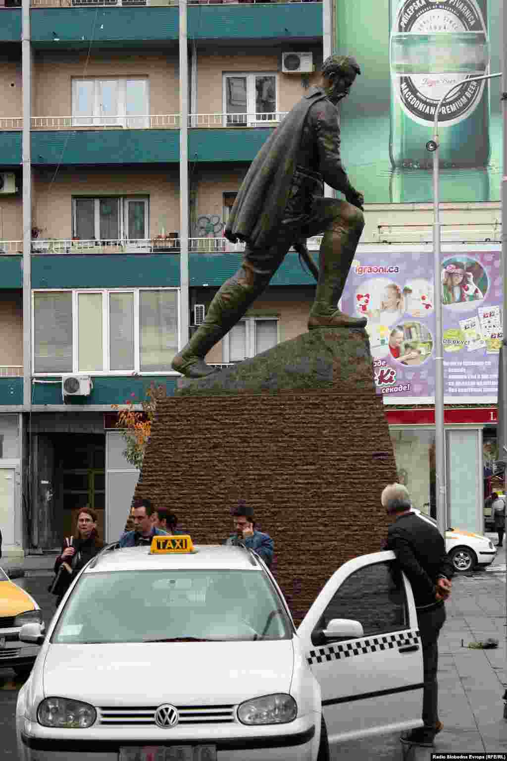 A statue of Hristo Uzunov, a fighter with Macedonia's National Liberation movement in the late 19th and early 20th century