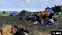 2015-ci il avqustun 21-i Yunanıstan-Makedoniya sərhəddində miqrantlar