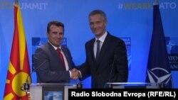 Премиерот Зоран Заев со генералниот секретар на НАТО, Јенс Столтенберг