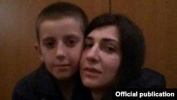 Pranvera Abazi, reunited with her son, Erion Zena, who was in Syria with his father.