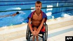 Пловец Александр Макаров, член паралимпийской сборной России