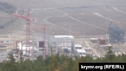 A new power plant under construction outside Sevastopol, where Russia has struggled to meet demand.