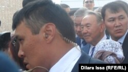 Қазақстан президенті Нұрсұлтан Назарбаев. Тараз, 8 қазан 2015 жыл.