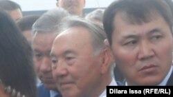 Президент Казахстана на встрече с жителями Тараза.
