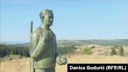 Spomenik dečaku, narodnom heroju Bošku Buhi na Jabuci