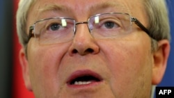 Австралискиот премиер Кевин Рад.