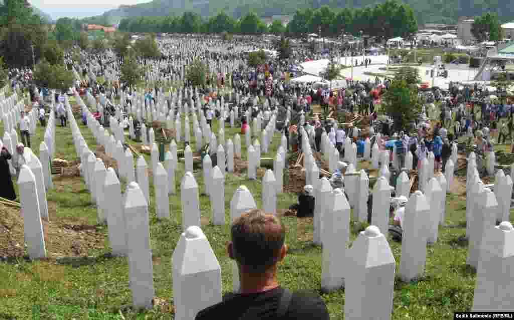 Some 6,000 victims of the Srebrenica massacre have been reburied at the Potocari Memorial Center. Many others have yet to be identified.
