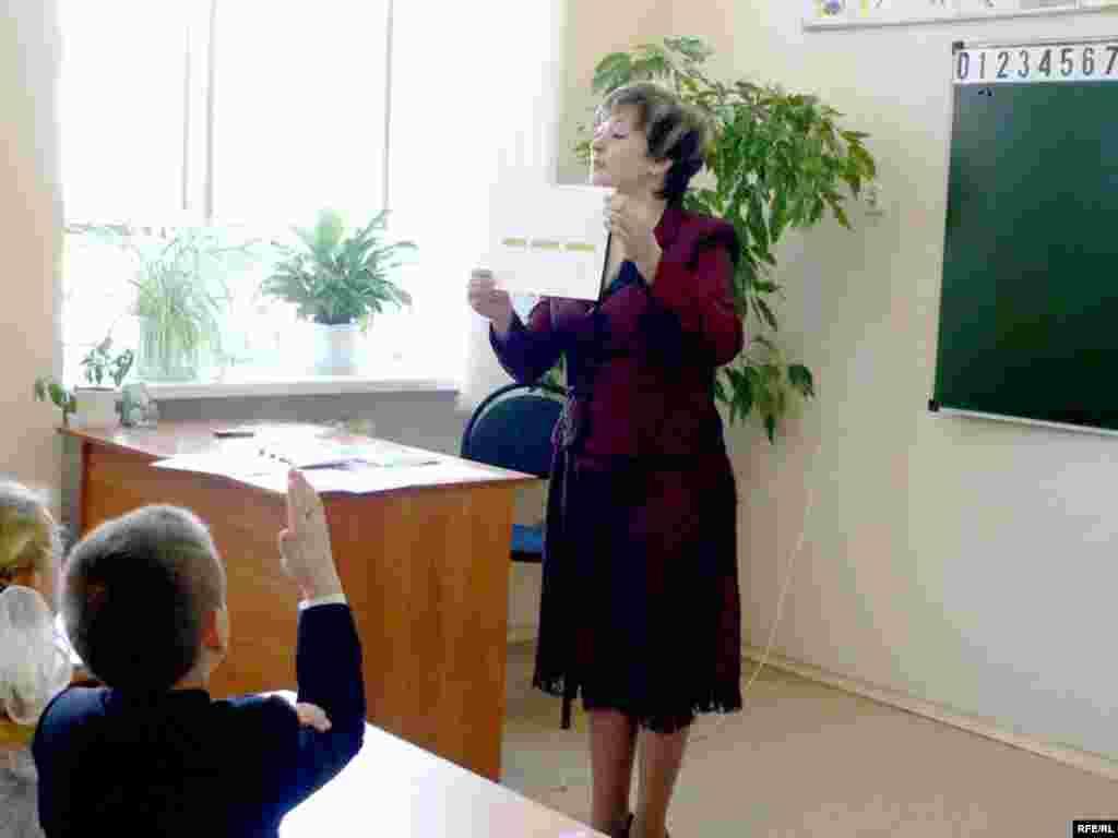 Рәзилә Хөсәинова - Алексеевскийдагы беренче мәктәпнең татар теле укытучысы