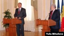 M.Topolanek şi V. Voronin