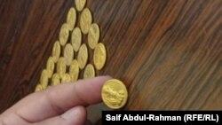 مسكوكات نقدية تعود الى العصر الساساني عثر عليها في محافظة واسط.
