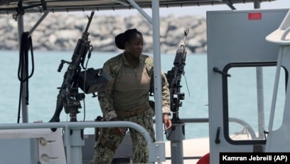 U S  Navy Says Mine Fragments Suggest Iran Behind Gulf
