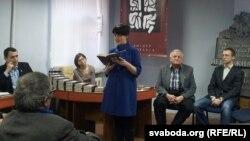Наста Дашкевіч, Вячаслаў Дашкевіч, Зьміцер Дашкевіч падчас прэзэнтацыі
