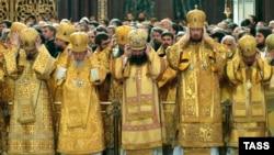 Главы поместных православных Церквей на праздничном богослужении в храме Христа Спасителя