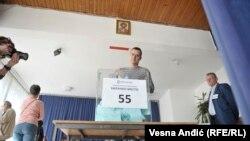 Сербияда президенттик шайлоо өтүп жатат . Добушкана. 2017-жыл 2-апрель.