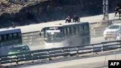 Эвакуация жителей Кефрайя и Фуаа в декабре 2016 года.