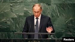 Президент Росії Володимир Путін під час виступу на Генасамблеї ООН, Нью-Йорк, 28 вересня 2015