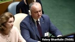 Președintele Igor Dodon la sesiunea ONU de la New York