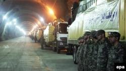 İranın yeraltı raket arsenalı, arxiv fotosu