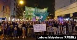 Чрезвычайное феминистское положение и ночь фиолетовых фонарей в Барселоне, 20 сентября 2019 года