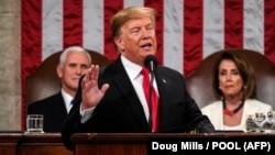 Presidenti amerikan, Donald Trump në fjalimin e tij drejtuar kombit.