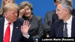 Predsjednik SAd Donald Trump i generalni sekretar NATO Jens Stoltenberg