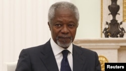 Outgoing UN-Arab League envoy Kofi Annan