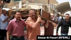 تشييع رائد كرة السلة العراقية على الصفار(من الارشيف)