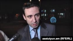 Armenia -- Yerevan Mayor Hayk Marutian speaks to journalists, January 16, 2019.