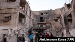 Orașul Arbin, Siria 6 februarie 2018.