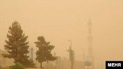 گرد و غبار در کرمانشاه