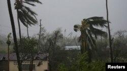 Під час урагану «Метью» на Гаїті, фото 4 жовтня 2016 року