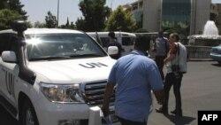 Vetura e misionit të vëzhguesve të OKB-së në Siri