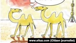 Rassom Elsevar chizgan karikatura (fragment)