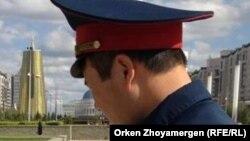 Полицейский в Астане. Иллюстративное фото.