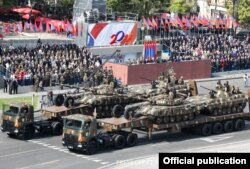 Armenia - A military parade in Yerevan, 21Sep2011.