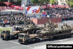 Armenia - A military parade in Yerevan, 21Sep2011.