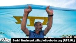 День крымскотатарского флага. Киев, 26 июня 2019 года